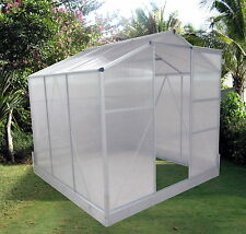 Medium Greenhouse with base. Size 129 x 190 x 195cm. Strong. 6mm Poly Panels.