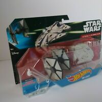 Star Wars Hot Wheels Die Cast First Order Tie Fighter VS. Millennium Falcon 2014