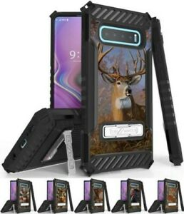Rugged Case Cover Stand + Wrist Strap for Samsung Galaxy S10 - Hunter Series