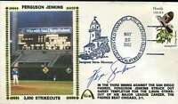 Fergie Jenkins 3000k`s Jsa Cert Sticker Fdc First Day Cover Authentic Autograph