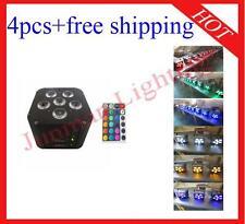 4pcs 6*18W RGBWAUV 6 in 1 Wireless DMX IR Battery Power Led Par Free Shipping