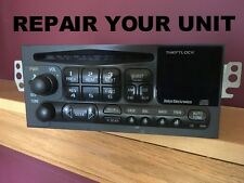 REPAIR SERVICE: 96 97 98 99 00 01 Chevy Blazer Impala GMC, etc CD Player