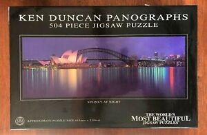 KEN DUNCAN Jigsaw Puzzle 450 Pce SYDNEY AT NIGHT NSW Harbour Bridge Opera House