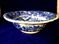 Vintage Victoria ware ironstone blue/white large round Bowl Colonial Landscape