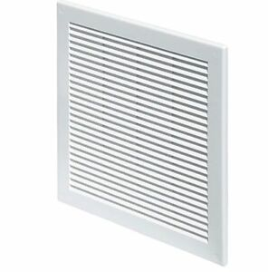 """White Air Vent Grille 250mm x 250mm Fly Screen Ventilation Cover 10"""" inch TRU8"""