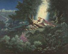 Warner Sallman STORY OF GETHSEMANE 16x20 Canvas Art Print Jesus Praying Angel