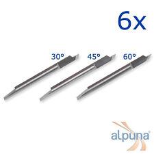 6 Plottermesser für Summa T - 30° Summagraphics Summasign ALPUNA Qualitätsmesser