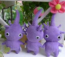New Arrival 3 PCS Set Nintendo ~Pikmin Purple Flower Bud/Flower/Leaf Plush Dolls