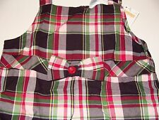 Gymboree Pups and Kisses Plaid Jumper Top Shirt Girls Size 10 NWT NEW