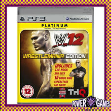 WWE 12 Wrestlemania Edition Platinum PS3 (Sony PlayStation 3) Brand New