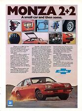 1976 Chevrolet Chevy Monza 2+2 A Small Car & Then Some Print Ad.