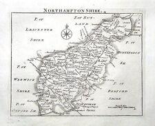 Northamptonshire, John Roque, Angleterre affichées, antique County Carte 1769