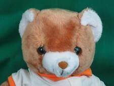BIG VINTAGE BROWN TEDDY BEAR UNCLE BENS BRAND RICE LOGO BARE PLUSH STUFFED
