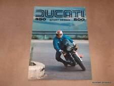 Ducati 350 500 Sport Desmo Foldout Brochure perfect NOS parallel twin