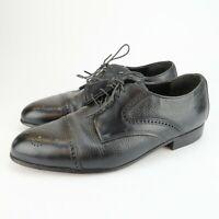 Dexter Oxford Mens Black Leather Lace up Cap toe dress Shoes Size 10.5 M USA