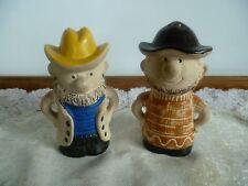 "VINTAGE ""COWBOY""  SALT & PEPPER SHAKERS - 50 yo - for Collector - E.C"