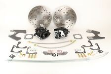 GM 10 / 12 Bolt Rear Disc Brake Kit w/ Black Calipers, Chevelle, Skylark, Malibu