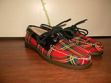 Vintage Chaussures SPERRY Top-Sider Pantoufles Motif Carreaux Rockabilly Punk Old School