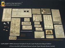 Griffon S-BPL35009 1/35 Pz.Kpfw.IV Ausf.J Late Detailing Set (Royal Edition)