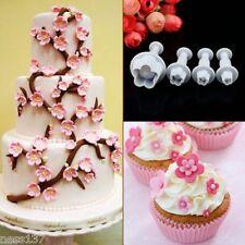 Lot de 4 Moules Multi Forme Blossom Fleur Patisserie Gateau Fondant Cake Sablé