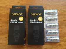 10 Aspire Nautilus & Mini BVC 1.8 ohm Replacement Coils (Two 5 packs)
