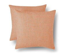 "Threshold 2 Pack Coral Orange Decorative Houndstooth Toss Pillows 18"" x 18"""