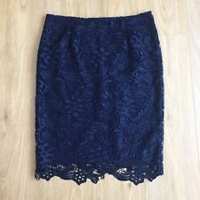 La Redoute Skirt 14 Pencil Broderie Anglaise Floral Wiggle Midi Steampunk Lace