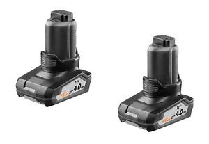 2X AEG RIDGID L1240R 12v 4Ah Pod Style Genuine Li-ion Battery 4.0Ah for 12V