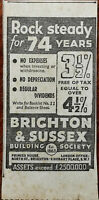 Brighton & Sussex Building Society Rock Steady for 74 Years Vintage Ad 1936