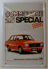 AUTO - OPEL COMMODORE - 2.5 SPECIAL. - BLECHSCHILD 30 x 20 cm (BS 680)