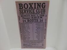 1938 Boxing Service Club Ft Leavenworth Advertising St Anthonys Boxing Club