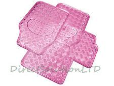 4pce Premium Rosa Coche Mat Set Esteras piso Impermeable Metálica en Glow swtp 6