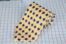 Polo Ralph Lauren Men's Beige Navy & Red Geometric Printed Silk Necktie