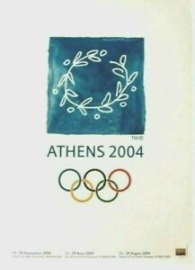 Original vintage poster OLYMPIC GAMES ATHENS GREECE 2004