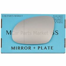 For Vw Eos 06-08 Left passenger side Aspheric wing mirror glass +plate