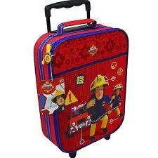 B-Ware Feuerwehrmann Sam Kinder Koffer Trolley Kinderkoffer Tasche Handgepäck