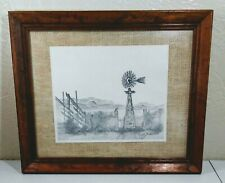 "Vtg Billy Hicks Lithograph Pencil Hand-Signed Numbered 95/300  10"" X 8"" Framed"