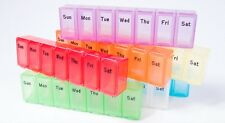 7 Day Weekly Daily Pill Box Organiser Medicine Tablet Storage Dispenser Week UK