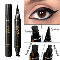 Winged Stamp Eyeliner Waterproof Makeup Eye Liner Pencil Black Liquid Cosmetic