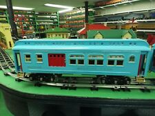 mth standard gauge #10-5043 turquoise passenger cars
