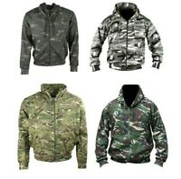 Mens Lightweight Camouflage Hoodie Jacket MTP DPM Camo Airsoft Paintball Hunting