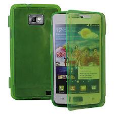 Housse Coque Portefeuille Livre VERT Samsung Galaxy S2 i9100/ i9105G