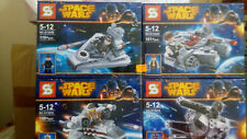 Star wars Space wars 4 set Microfighters spaceship, Bootleg minifigures.