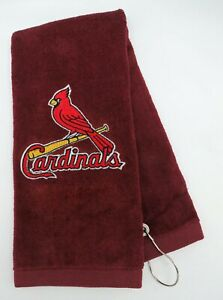Personalized Embroidered Golf/Bowling Towel St Louis Cardinals