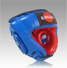Boxing Blue Head Guard Headgear Kick Sparring Gear