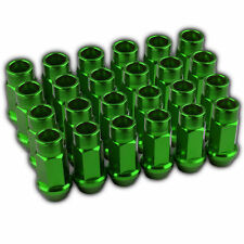24 PC GREEN LUG EXTENDED RACING LUG NUTS FOR TIRES/WHEELS/RIMS 50MM 12X1.5 A
