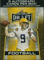 2020 Leaf NFL Draft Football Blaster Box 🔥2 Autos🔥20 Packs - Burrow? Tua?