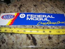 "NHRA Federal Mogul Drag Racing Series - 12"" x 3"" - NHRA Racing Stickers"