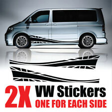 VW Transporter Graphics Stripes Camper Van union jack Decals Stickers T4 T5 Cadd