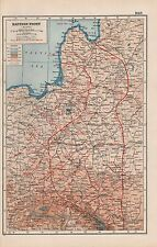 1920 MAP -WORLD WAR 1- EASTERN FRONT, NORTH